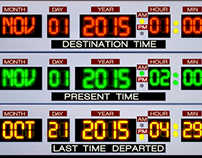 Daylight Savings Time Back to The Future Themed