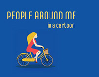 People around me in a cartoon
