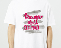 t-shirt design for Vacanze dell'anima festival