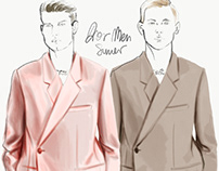 Menswear illustrations