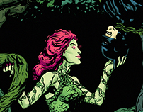 Batman and Poison Ivy Print