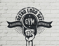 Gym logo set