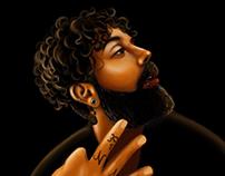 Portrait of tattooer