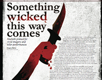 """Something wicked this way comes"" Features Page"