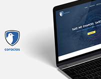 Coracias Security – landing page design