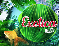 Exotica Radio - Audio reactive motion graphics