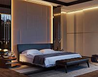 3D Rendering for Interior Design. A Beautiful Bedroom