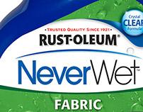 NeverWet Fabric Australia Label Design