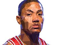 Low Poly Derrick Rose Portrait