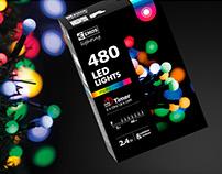 Christmas LED Lights Packaging Design