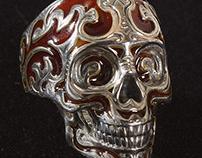 Baroque Skull Ring