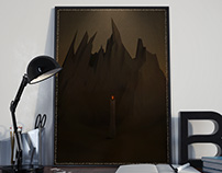 Low Poly Barad Dur/Mount Doom