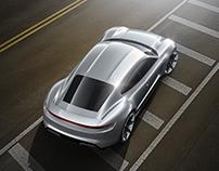 Porsche Mission E visualization