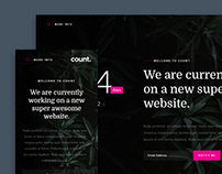 Count - FREE Coming Soon HTML Website Template