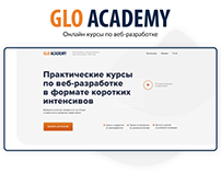 GLO Academy Landing page