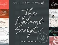 THE NATURAL SCRIPT FONT BUNDLE - 94% OFF!