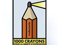 Je Suis Charlie (la Friche & 1000 crayons)
