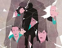 Le Monde - editorial illustration