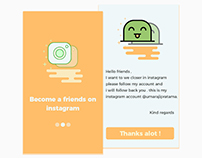become a friends on instagram