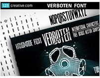 Condensed Headline font - Verboten font + Bonus vectors