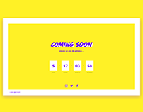 Daily UI #048 — Coming Soon