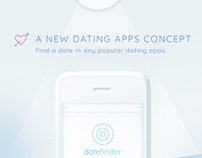 Mobile App Concept : datefinder