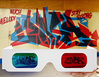 Anaglyph wildstyle piece