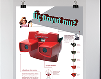 3D view-master poster