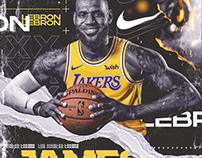 Lakers | Lebron James | Nike (Personal Project)