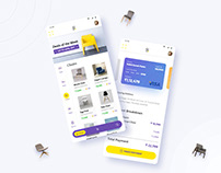 E-Commerce App, Wireframe & Interaction design