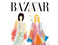 Cover design for Harper's Bazaar Russia