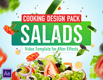 Cooking Design Pack - Salads | After Effects