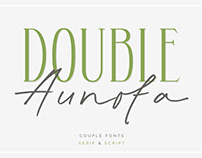 Double Aunofa – Couple Font