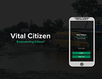 Vital Citizen - Infrastructure Issue Reporting App