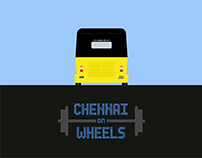 Chennai on Wheels - Minimalist Art