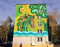 Mural: Green Horse