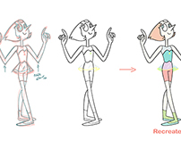 Recreation Design Study: Pearl from Steven Universe