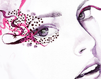 Advertising illustration For ILLAMASQUA cosmetics