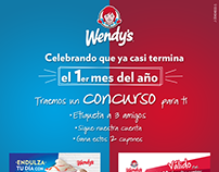 Social Media branding piece Competition Wendy's
