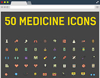 50 Free Medicine Icons