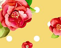 Retro inspired camellias