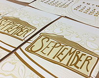 2017 Pyramid Atlantic Letterpress Calendar: September