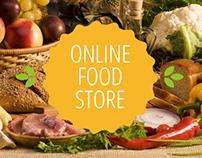 Online food shop.