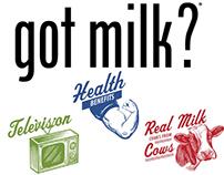 Got Milk? TV Spot Logo Illustrations by Steven Noble
