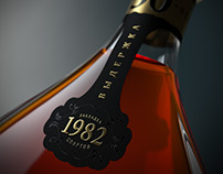 Cognac Product shot in 3d