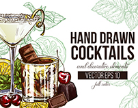 Vector Set of Cocktails
