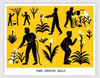 Men Growing Balls