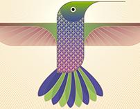 Hummingbird -Spring Blossom