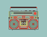 Free Boombox Vector Illustration