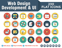Web Design and development Flat Icons, 230 Icons